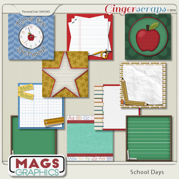 School Days JOURNAL CARDS by MagsGraphics