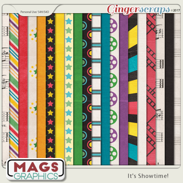 It's Showtime PAPERS by MagsGraphics