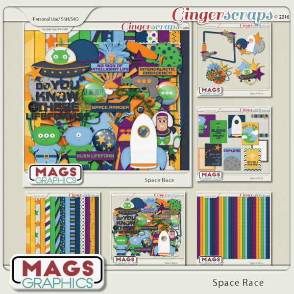 Space Race BUNDLE by MagsGraphics