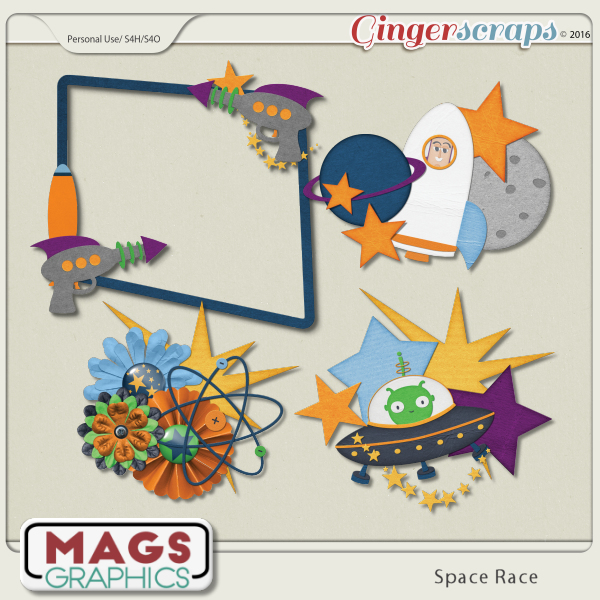 Space Race CLUSTERS by MagsGraphics