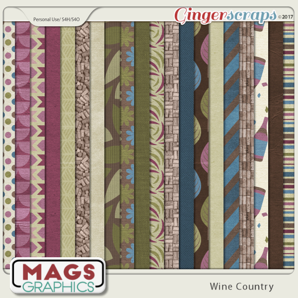 Wine Country PAPERS by MagsGraphics