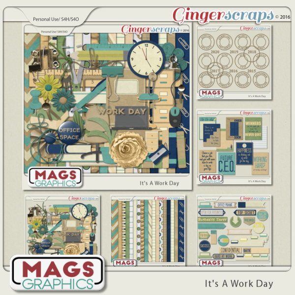 It's A Work Day BUNDLE by MagsGraphics