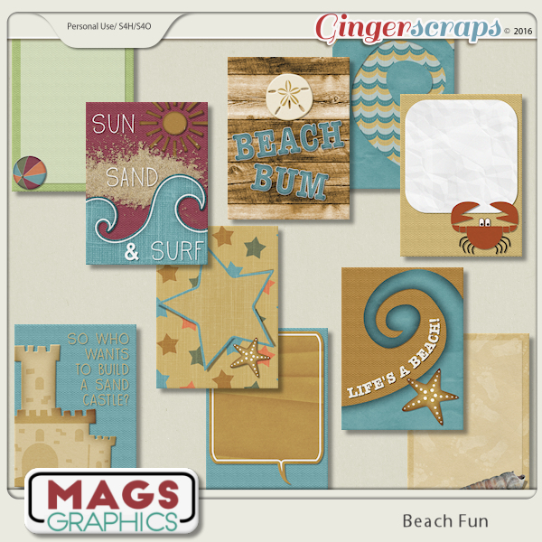 Beach Fun JOURNAL CARDS