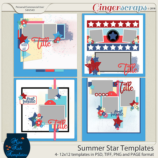 Summer Star Templates by Miss Fish