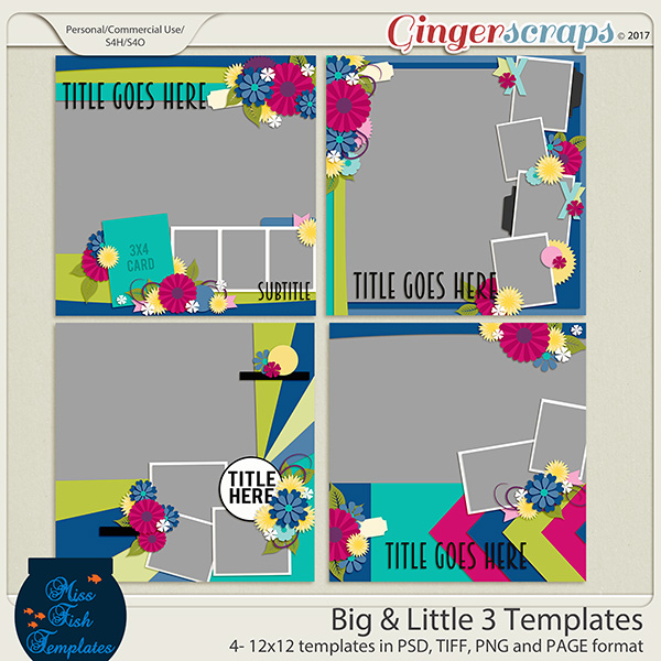 Big & Little 3 Templates by Miss Fish