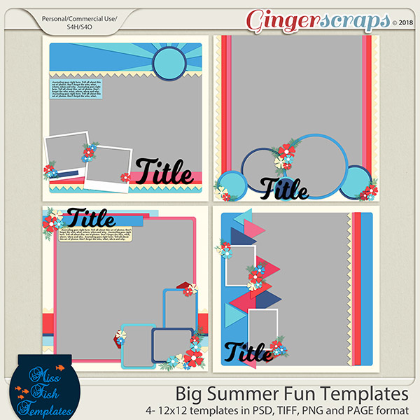 Big Summer Fun Templates by Miss Fish