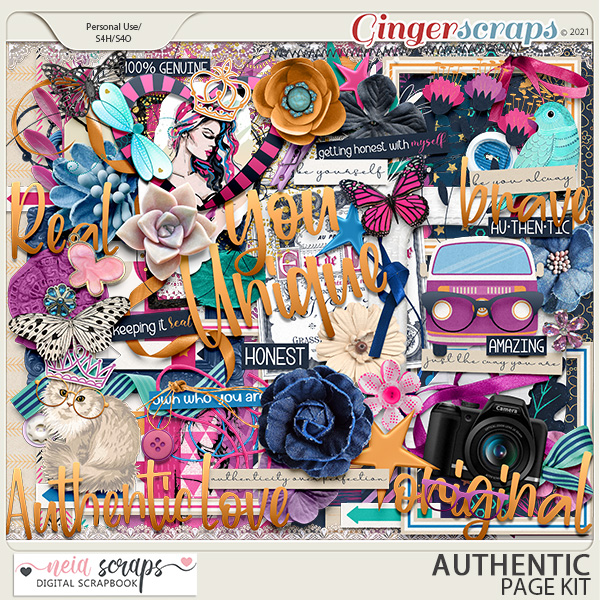 Authentic - Page Kit - by Neia Scraps