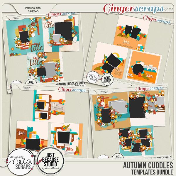 Autumn Cuddles - Templates Bundle - by Neia Scraps and JB Studio