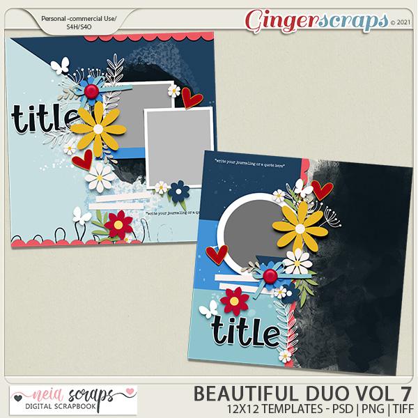 Beautiful Duo - Templates - VOL 7 - by Neia Scrap