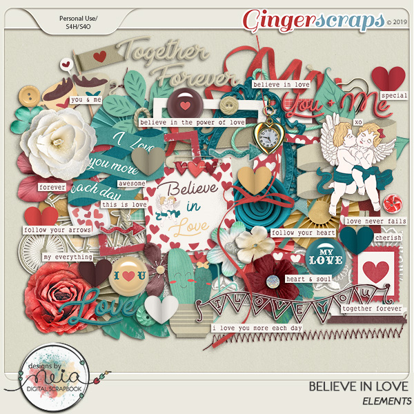 Believe In Love - Elements  by Neia Scraps