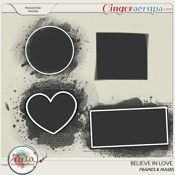 Believe In Love - Masks & Frames by Neia Scraps