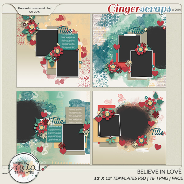 Believe In Love - Templates  by Neia Scraps