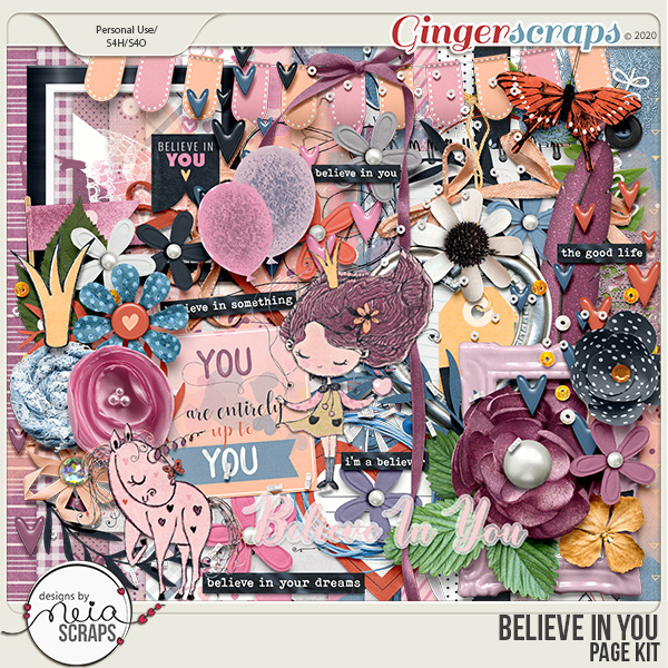 Believe in You - Page Kit - by Neia Scraps