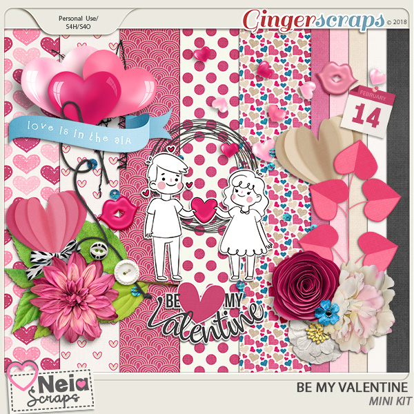 Be My Valentine - Mini Kit - by Neia Scraps