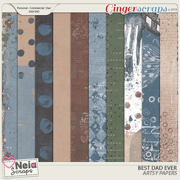 Best Dad Ever - Artsy Papers - by Neia Scraps