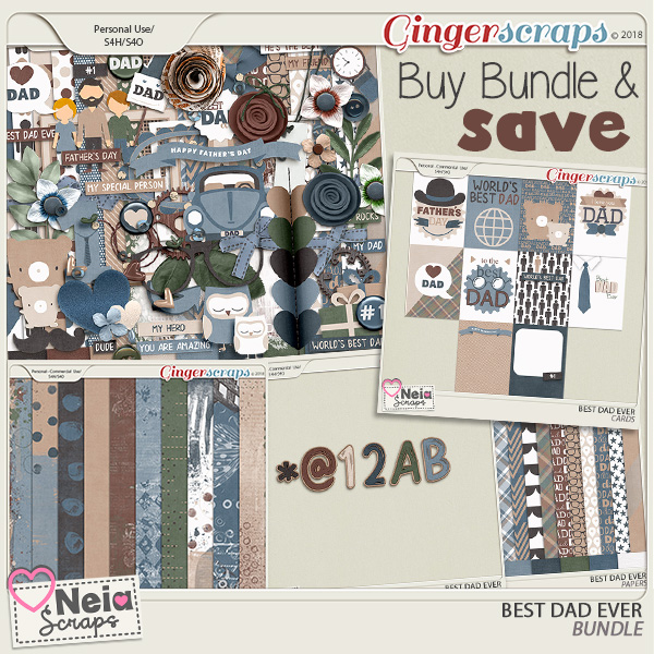 Best Dad Ever - Bundle - by Neia Scraps