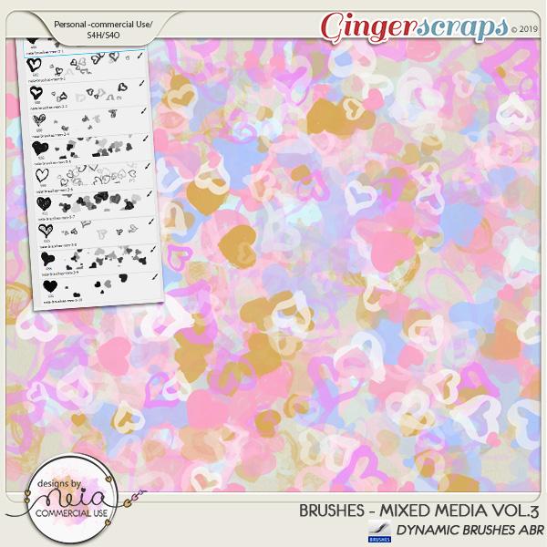 Brushes -Mixed Media VOL 03- by Neia Scraps - CU