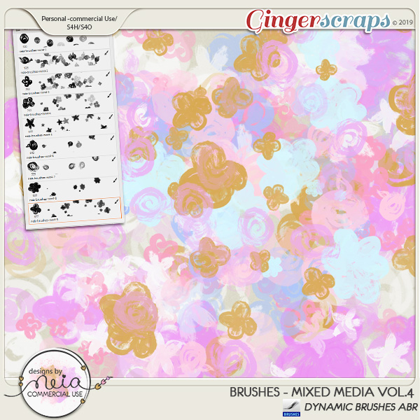 Brushes -Mixed Media VOL 04- by Neia Scraps - CU