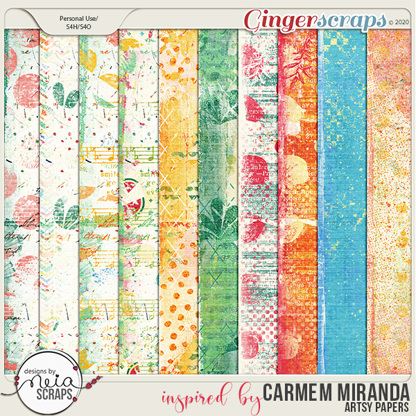 inspired by Carmem Miranda - Artsy Papers - by Neia Scraps