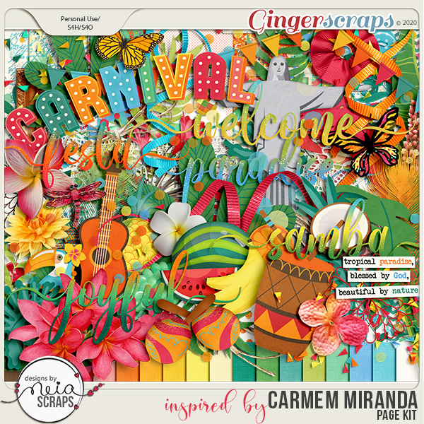 inspired by Carmem Miranda - Page Kit - by Neia Scraps
