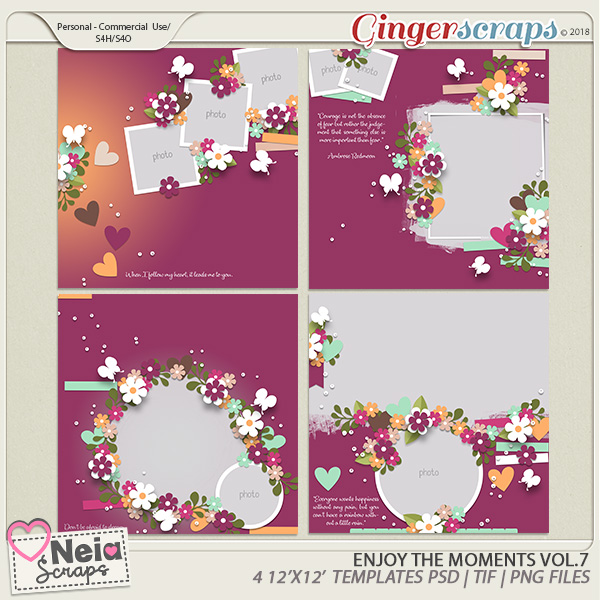 Enjoy The Moments - Templates VOL.7 - By Neia Scraps