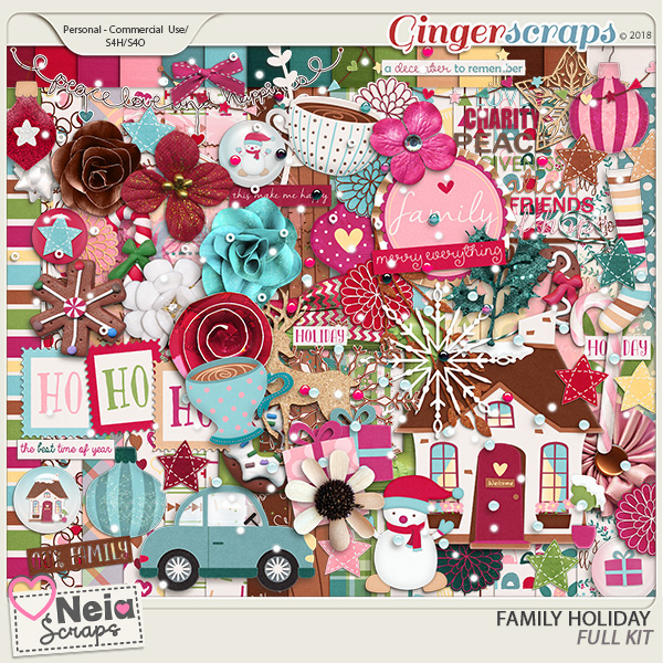 Family Holiday - Full Kit - By Neia Scraps