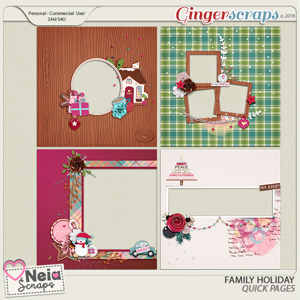 Family Holiday - Quick pages - By Neia Scraps