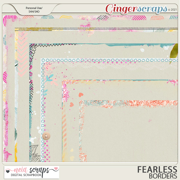 Fearless - Borders - by Neia Scraps