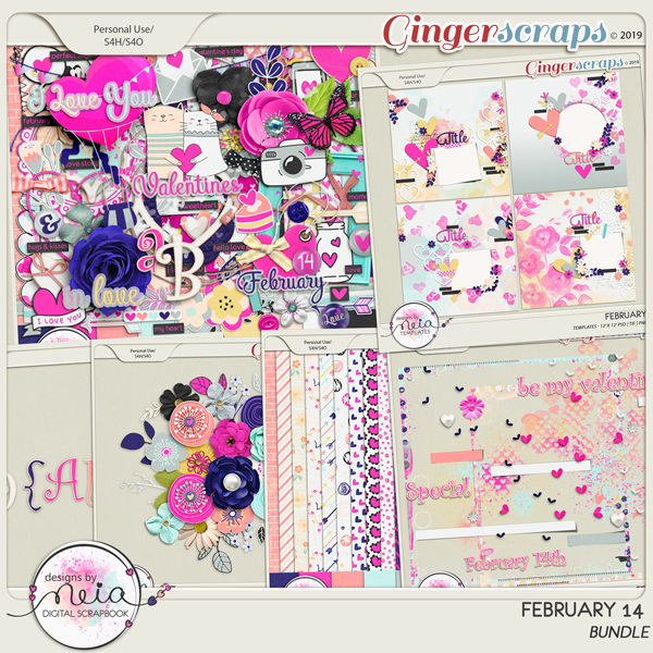February 14 - Bundle - By Neia Scraps