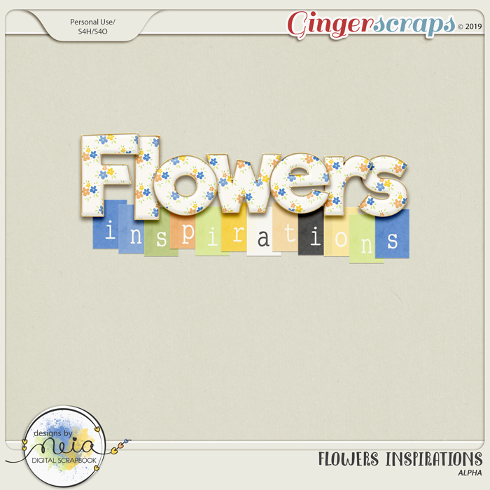Flowers Inspirations - Alpha - by Neia Scraps