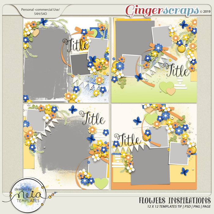 Flowers Inspirations - Templates - by Neia Scraps