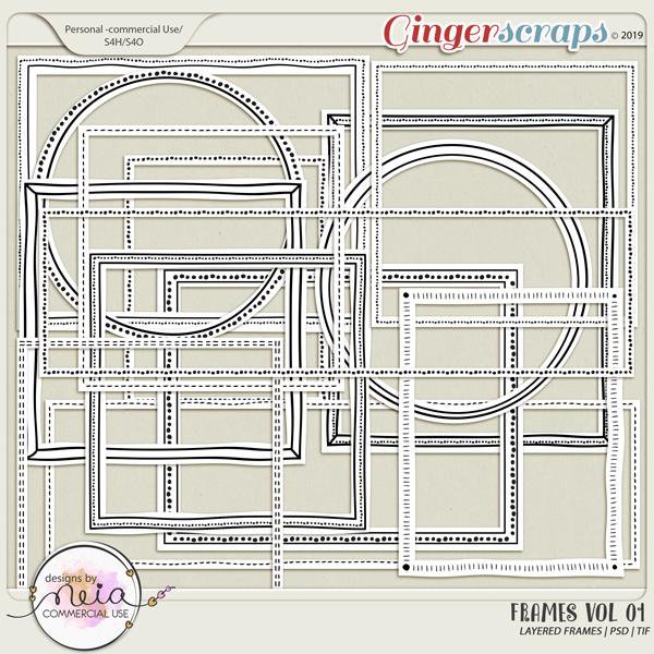 Frames - VOL 01 - by Neia Scraps - CU
