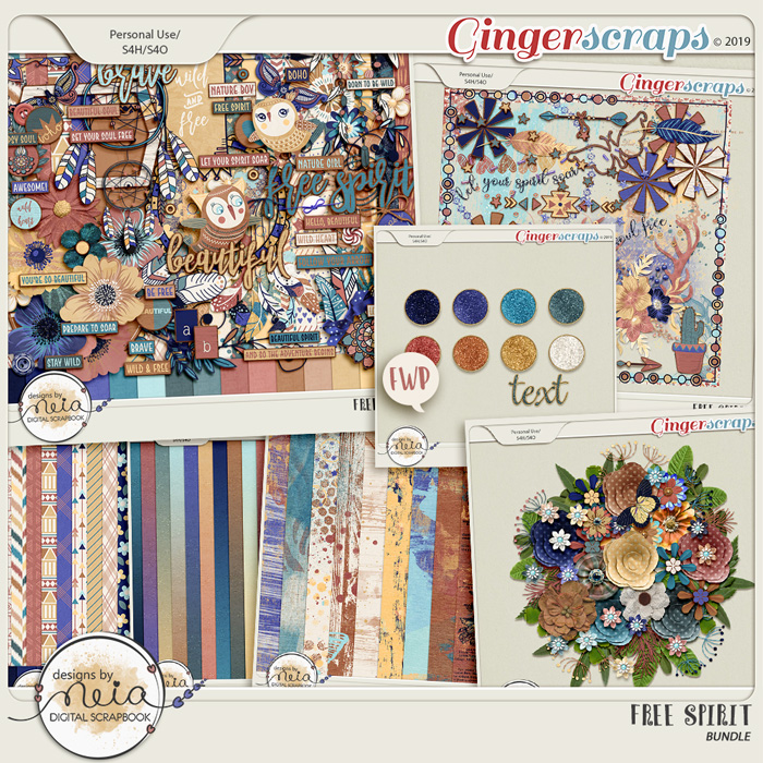 Free Spirit - Bundle - by Neia Scraps