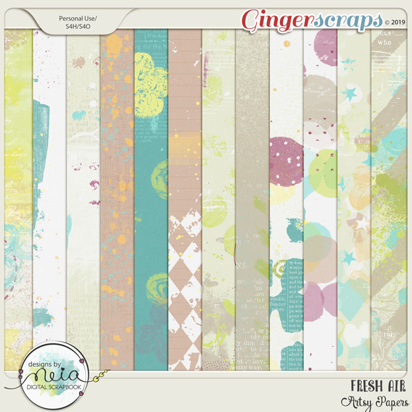 Fresh Air - Artsy Papers - By Neia Scraps