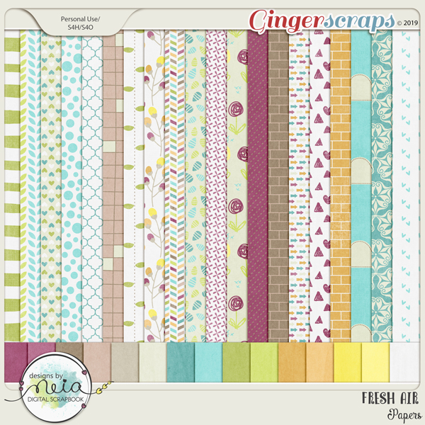 Fresh Air - Papers - By Neia Scraps