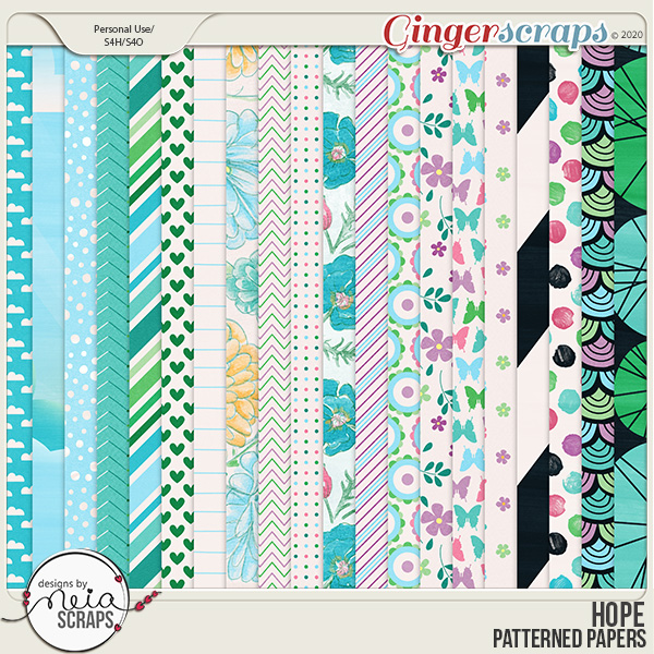 Hope - Patterned Papers - by Neia Scraps