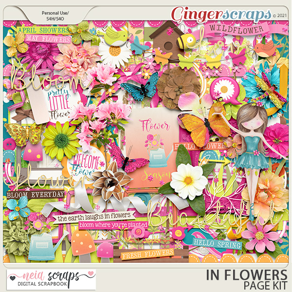 In Flowers - Page Kit - by Neia Scraps