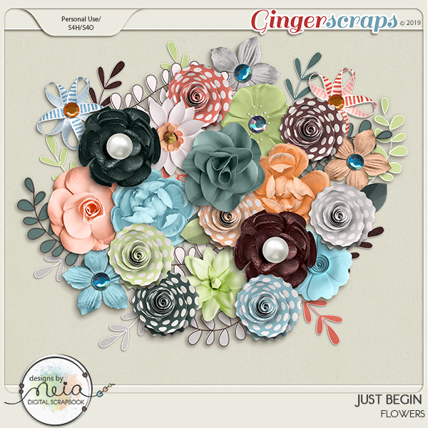Just Begin - Flowers - Designs by Neia