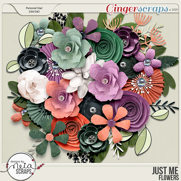 Just Me - Flowers - by Neia Scraps