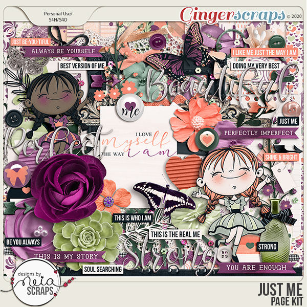 Just Me - Page Kit - by Neia Scraps