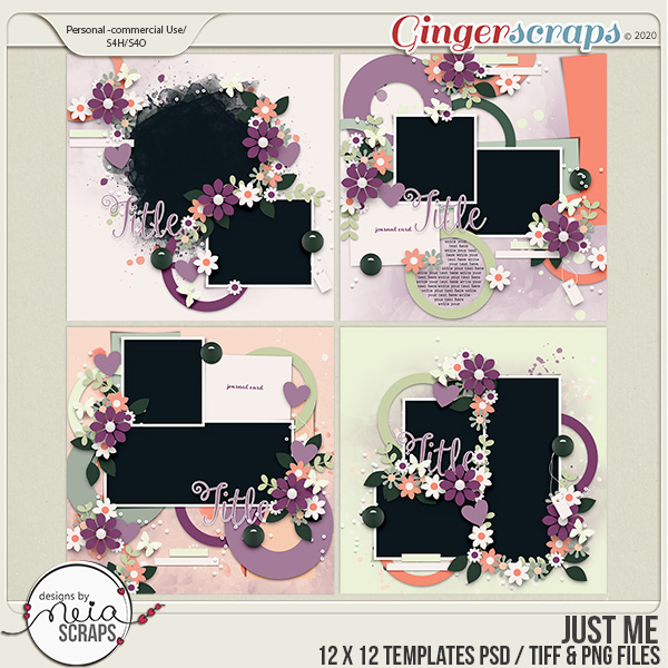 Just Me - Templates - by Neia Scraps