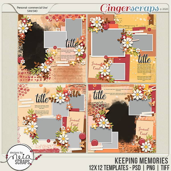 Keeping Memories - Templates - by Neia Scraps