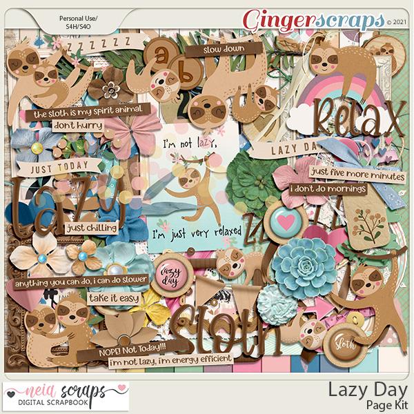 Lazy Day - Page Kit - by Neia Scraps