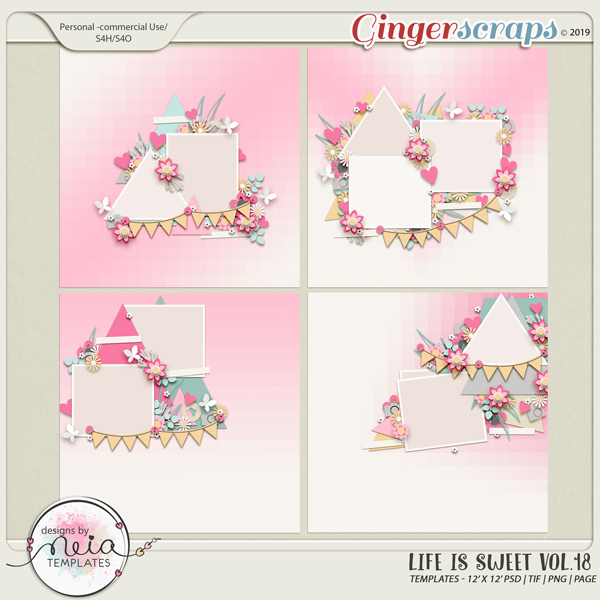 Life is Sweet 18 - Templates - By Neia Scraps