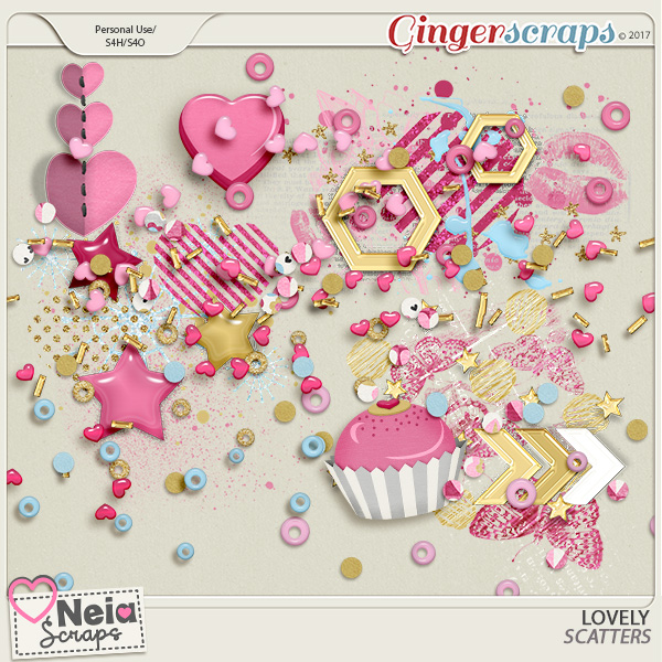 Lovely - Scatters - by Neia Scraps