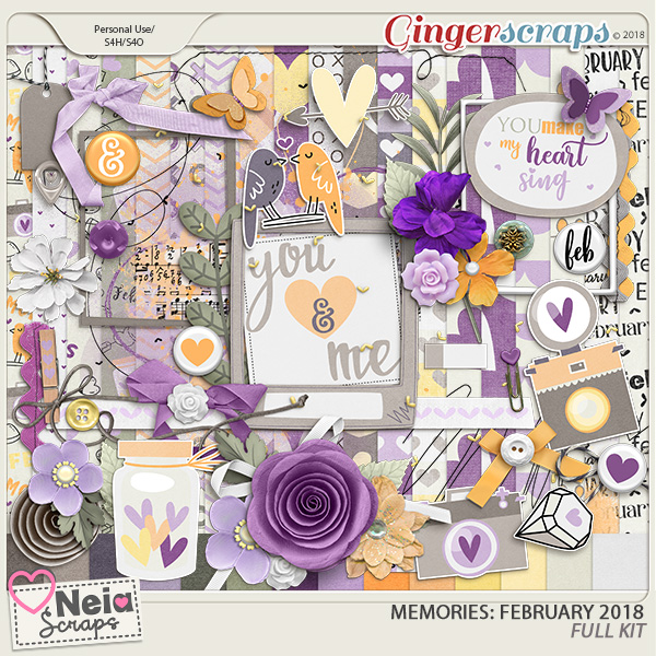 Memories: February 2018 - Full Kit- by Neia Scraps