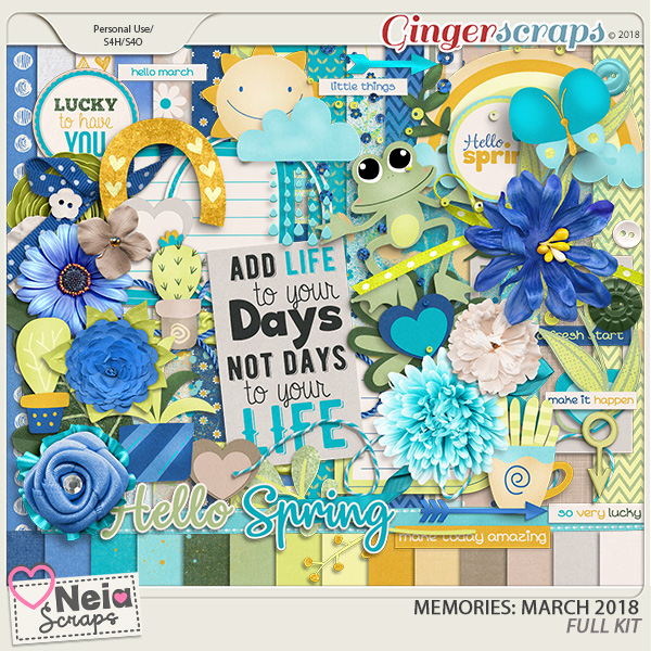 Memories: March 2018 - Full Kit- by Neia Scraps