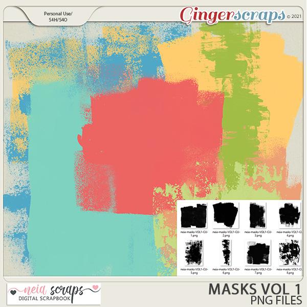 CU - Masks - VOL 1 by Neia Scraps
