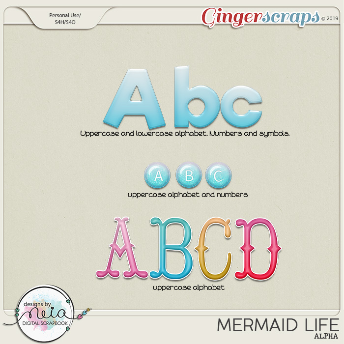 Mermaid Life - Alpha - by Neia Scraps