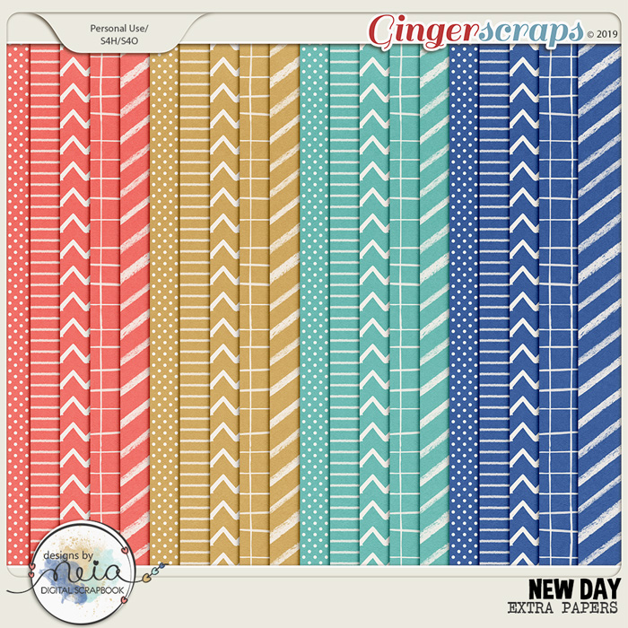 New Day - Extra Papers - by Neia Scraps